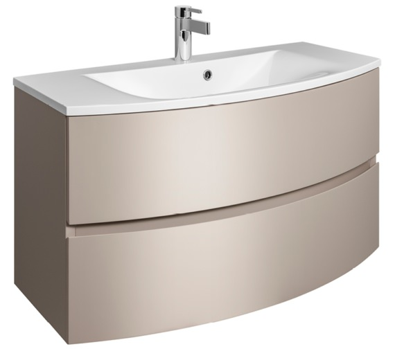 Bauhaus Svelte 1000mm Matt Coffee Wall Hung Vanity Unit And Basin