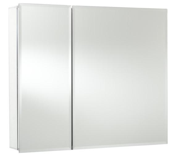 Croydex Halton Bi-View Aluminium Mirror Cabinet 762 X 660mm