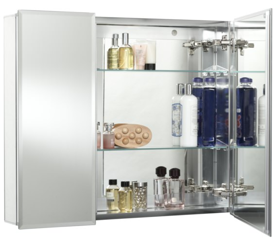 Alternate image of Croydex Halton Bi-View Aluminium Mirror Cabinet 762 X 660mm