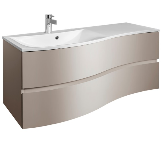 Bauhaus Svelte 1200mm Matt Coffee Wall Hung Vanity Unit And Basin