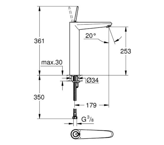 Technical drawing QS-V81778 / 23428000
