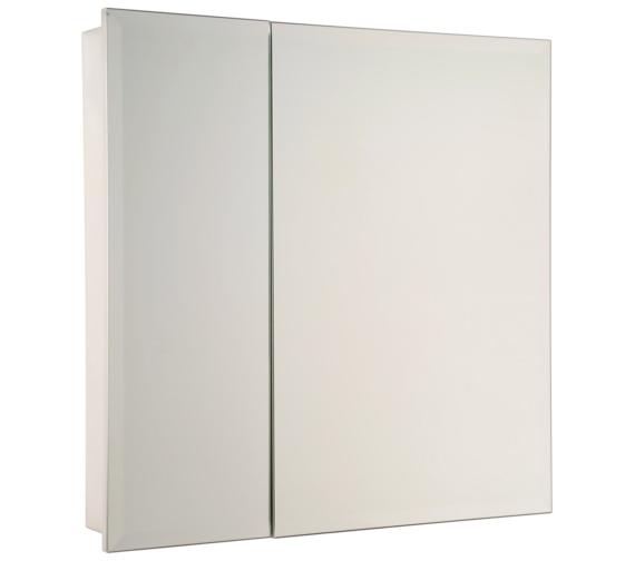 croydex dempsey double door stainless steel cabinet wc216105