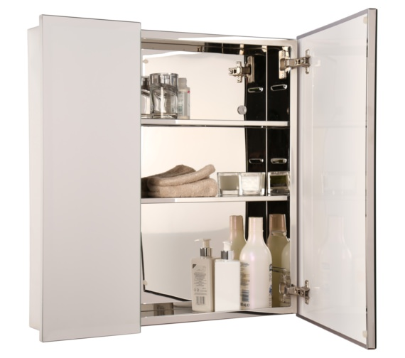 Alternate image of Croydex Dempsey Double Door Stainless Steel Cabinet