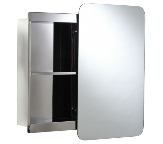 Alternate image of Croydex Medway Sliding Mirrored Door Cabinet