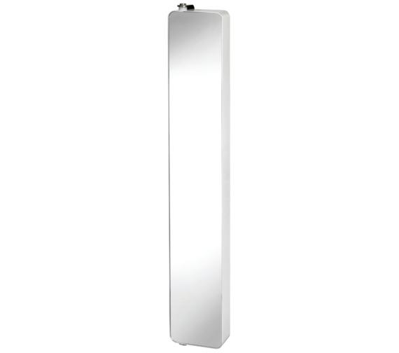 Croydex arun 1200mm tall pivoting cabinet wc880222 for Spiegel drehschrank bad