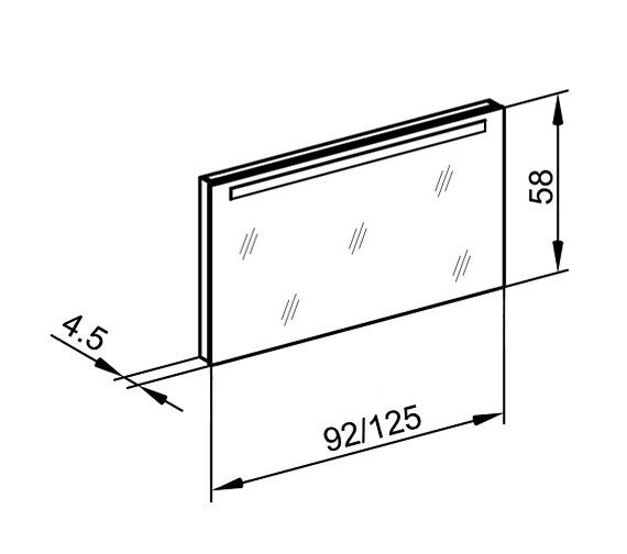 Technical drawing QS-V16662 / TRI/WL 125/FL