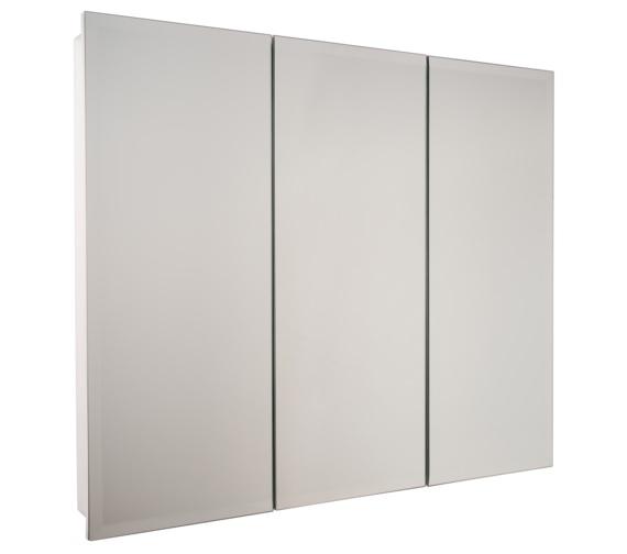 Croydex Harper Triple Door Stainless Steel Cabinet