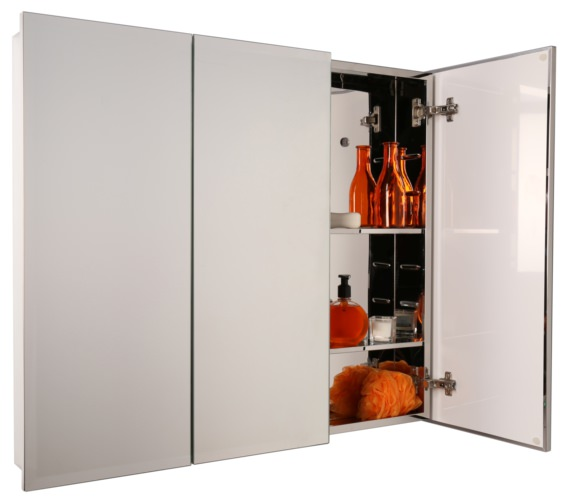 Alternate image of Croydex Harper Triple Door Stainless Steel Cabinet