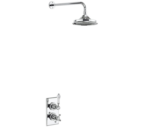 Burlington Trent Concealed Thermostatic Valve With Shower Head And Arm