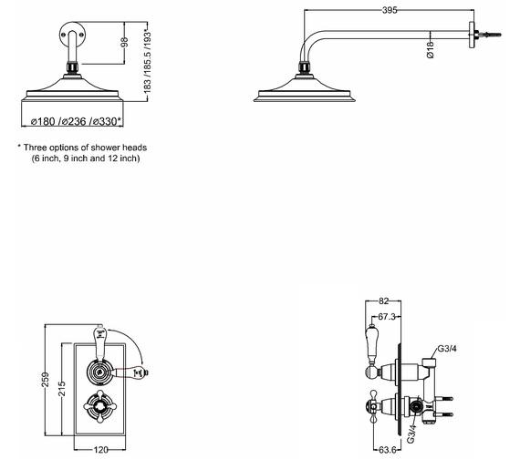 Technical drawing QS-V10840 / TF1S
