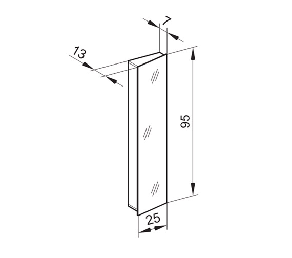 Technical drawing QS-V16672 / SR/MOD 25/L