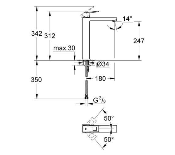 Technical drawing QS-V81786 / 23406000