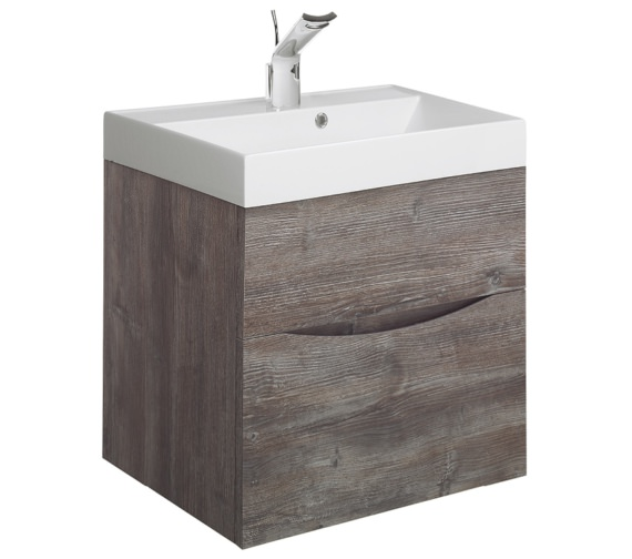 Bauhaus Glide II 500mm Driftwood Double Drawer Vanity Unit