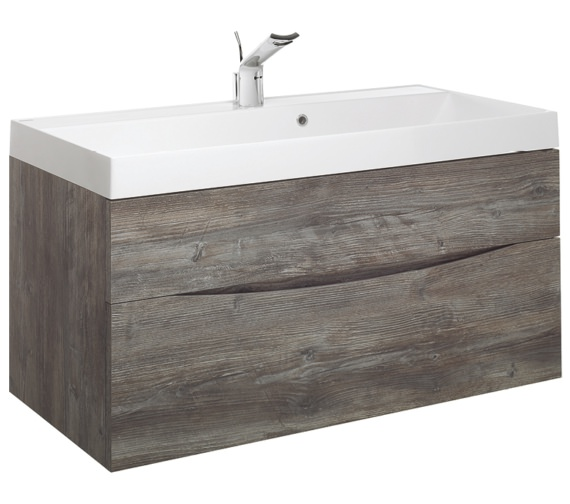 Bauhaus Glide II 1000mm Driftwood Double Drawer Vanity Unit