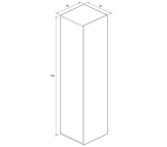 Technical drawing QS-V8844 / EL3514FEB