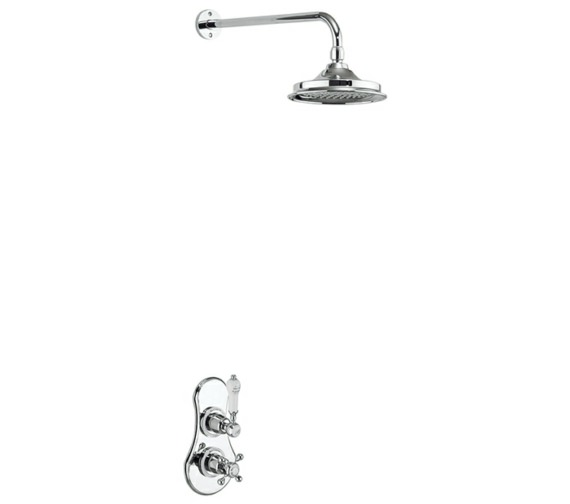 Burlington Severn Concealed Thermostatic Valve With Shower Head And Arm