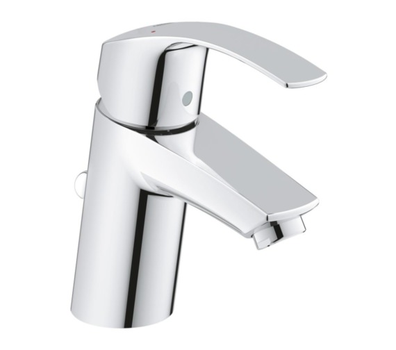 Grohe Eurosmart S-Size Half Inch Basin Mixer Tap With Pop Up Waste