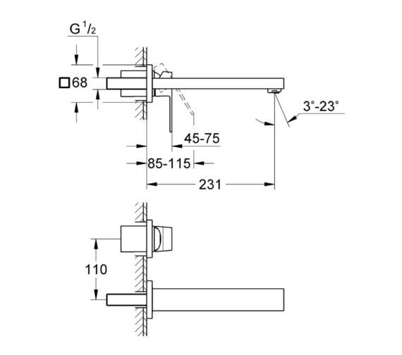 Technical drawing QS-V81798 / 23447000