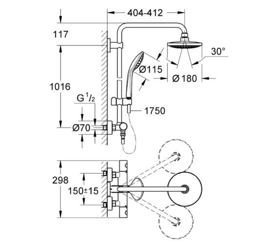 Technical drawing QS-V81782 / 27420001