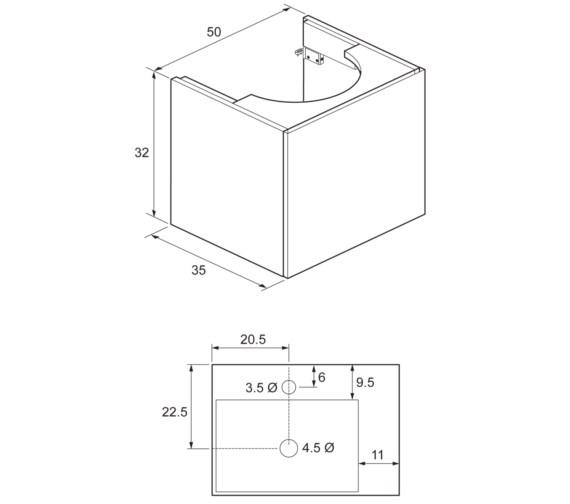 Technical drawing QS-V8845 / EL5000DWG