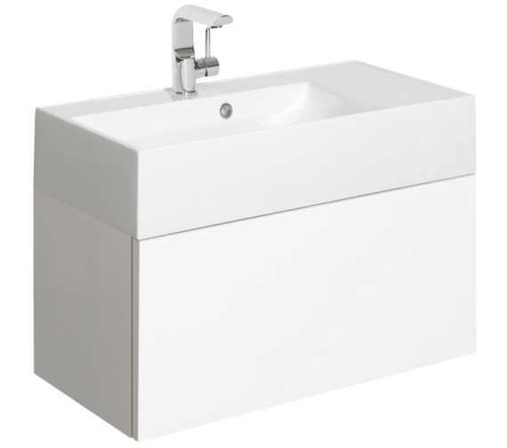 Bauhaus Elite 700mm White Gloss Single Drawer Basin Unit