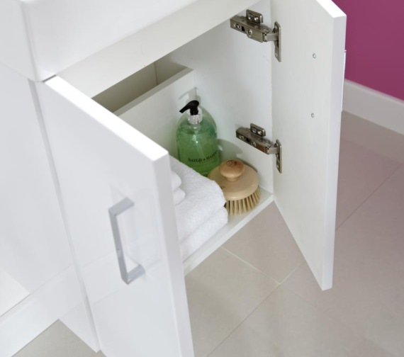 Additional image of Lauren Checkers 450mm Wall Hung Cabinet And Basin