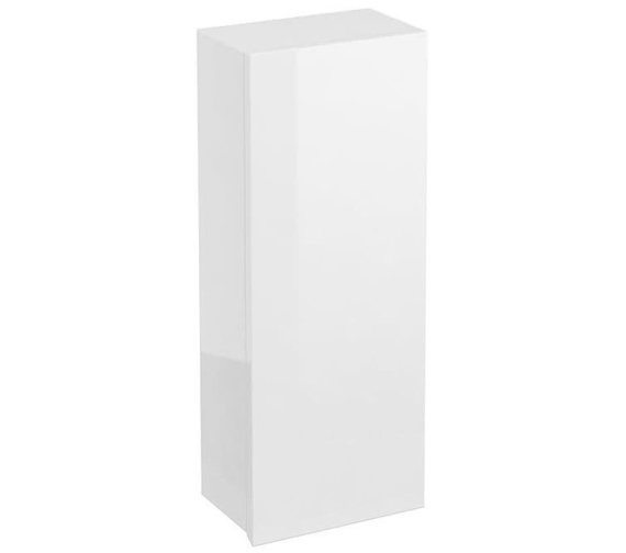 Britton Aqua Cabinets White 300mm Single Door Wall Mounted Cupboard