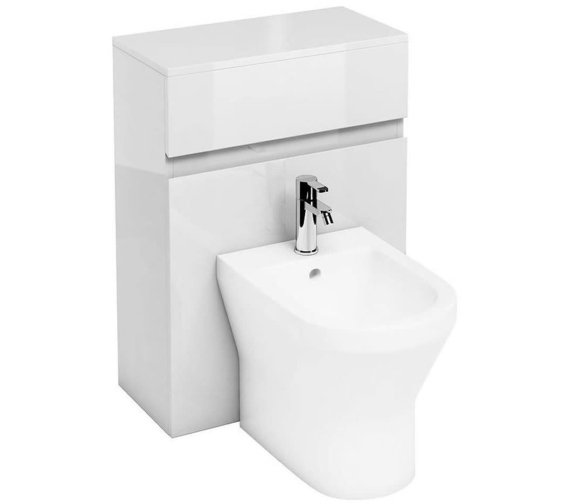 Britton Aqua Cabinets D300 White 600mm Back To Wall Bidet Unit