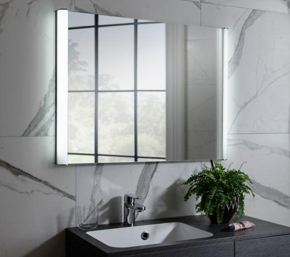 Alternate image of Bauhaus Serene 800 x 600mm Illuminated Bathroom Mirror