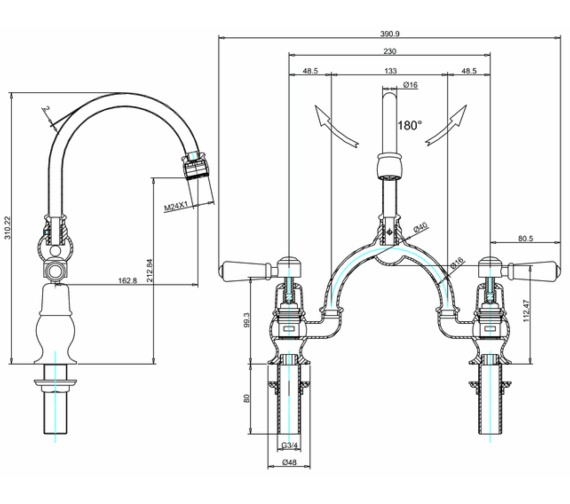 Technical drawing QS-V83730 / KE28