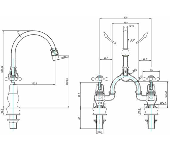 Technical drawing QS-V83731 / CLR27
