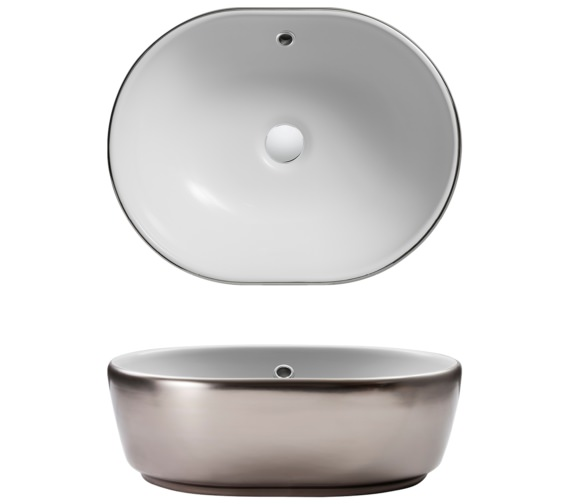 Bauhaus Gallery Pearl Platinum Countertop Basin With Overflow