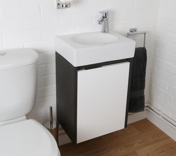 Additional image of Croydex Beaulieu Light Oak Vanity Unit And Mirror Set