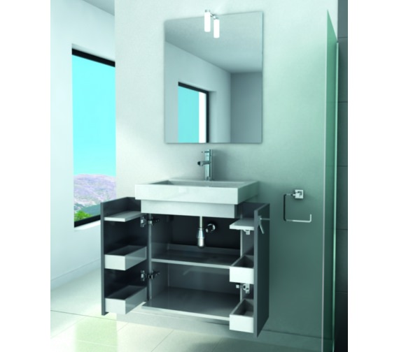 Additional image of Croydex Danby Grey Basin Vanity Unit