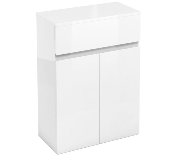 Britton Aqua Cabinets D30 White 600mm Drawer And Double Door Unit