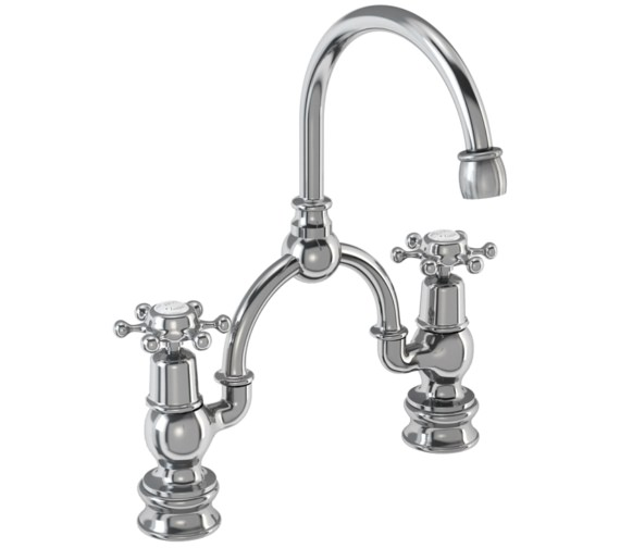 Burlington Birkenhead Regent 2 Tap Hole Arch Basin Mixer - 230mm Centres