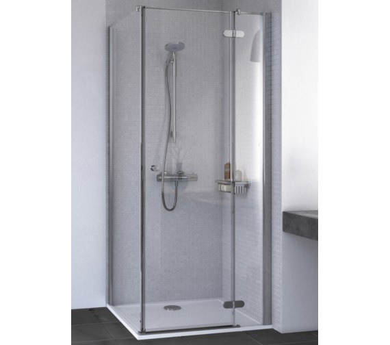 Aqualux Id Match Round 900 X 900mm Hinge Door With Side