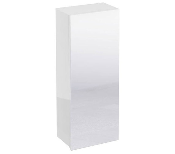Britton Aqua Cabinets White 300mm Single Mirrored Door Wall Cabinet