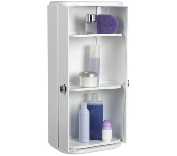 Alternate image of Croydex Double Door Plastic Cabinet 330 x 680mm