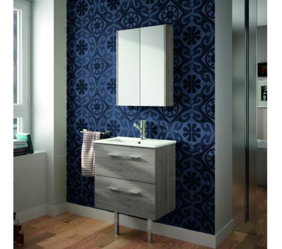Alternate image of Croydex Heydon Double Door Bi-View Grey Cabinet 500 x 675mm