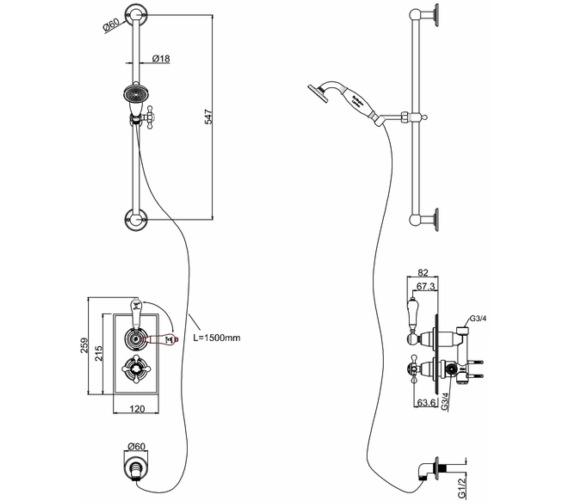 Technical drawing QS-V10841 / TF1H