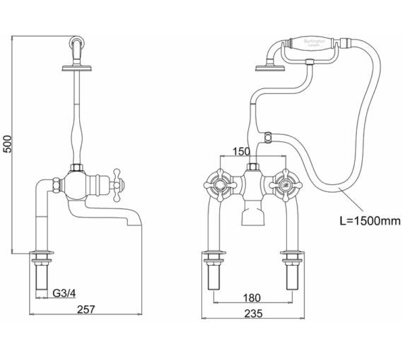 Technical drawing QS-V10851 / T2DB