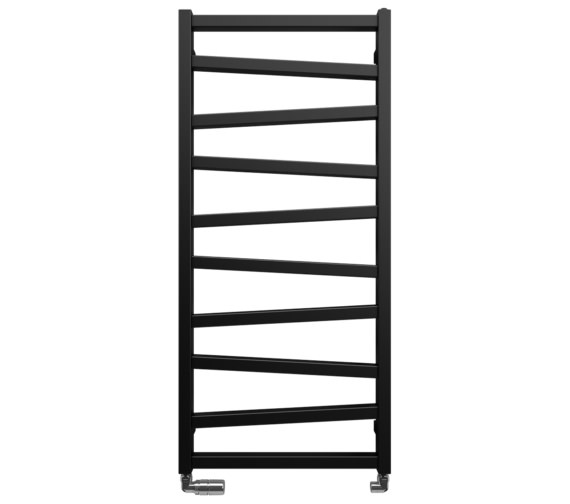 Bauhaus Gallery Wedge 500 x 1096mm Black Matte Towel Warmer