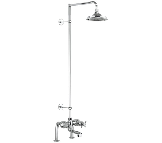 Burlington Tay Deck Mounted Thermostatic Bath Shower Mixer With Rigid Riser