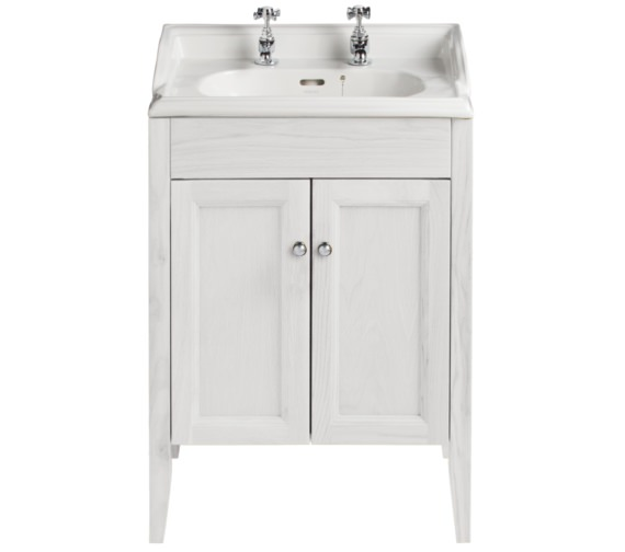 Heritage Caversham Dove Grey Vanity Unit For Dorchester Square Basin