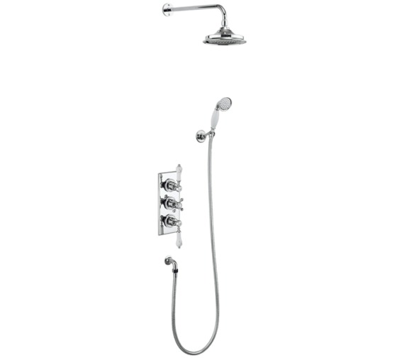 Burlington Trent 2 Outlet Concealed Thermostatic Valve With Shower Set