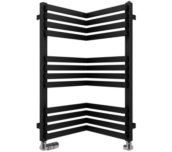 Bauhaus Gallery Zion 350 x 735mm Black Matte Towel Warmer