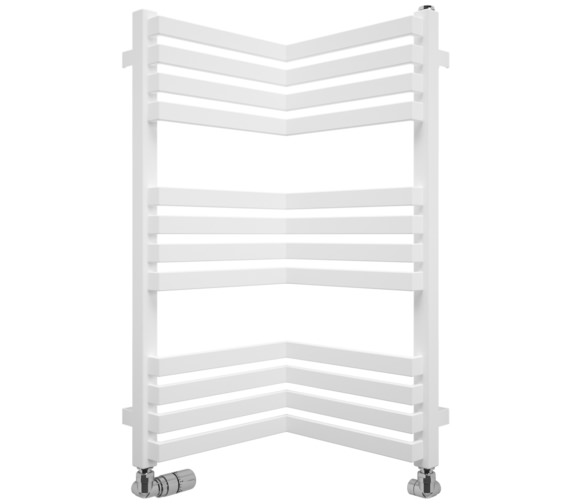 Bauhaus Gallery Zion 350 x 735mm White Matte Towel Warmer