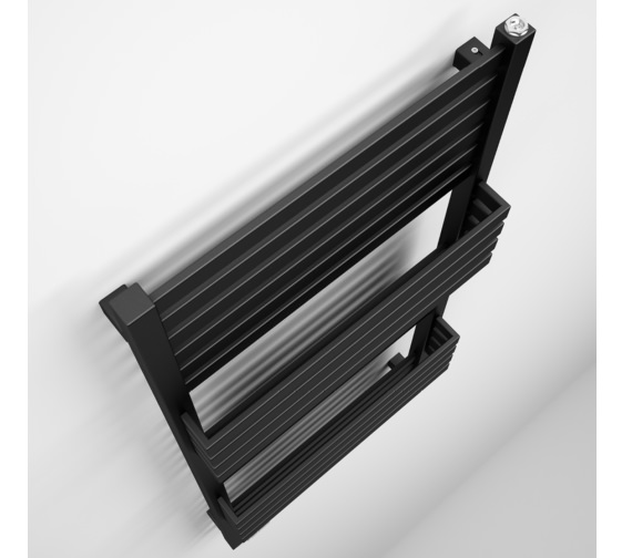 Alternate image of Bauhaus Gallery Seattle 500 x 1185mm Black Matte Towel Warmer