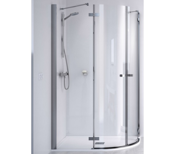 Aqualux ID Match Square 1200 x 800mm Offset Quadrant Shower Enclosure